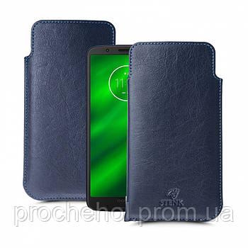 Футляр Stenk Elegance для Motorola Moto G6 Plus Синий