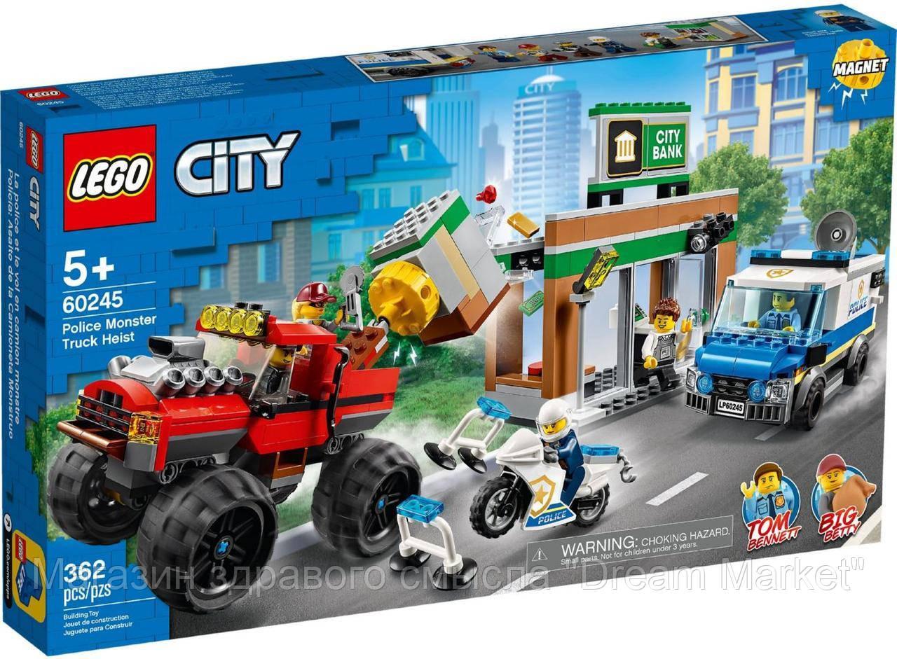 Lego City Ограбление полицейского монстр-трака 60245