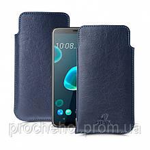 Футляр Stenk Elegance для HTC Desire 12 Plus Синий