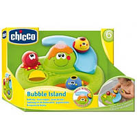 Детская Игрушка для ванной Центр Остров мыльных пузырей с горкой, колесом и зеленым осьминогом Chicco Чико