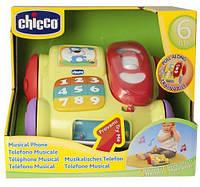 Детская Развивающая Музыкальная Игрушка-Каталка Телефон Динь-Динь с двумя режимами Chicco Чико 22х19х20 см