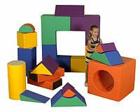 Мягкий Модульный Конструктор Блок-2 для детей, 18 геометрических элементов, для дома, игровых центров, школ