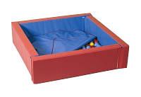 Мягкий развивающий игровой модульный сухой бассейн разборный для дома и улицы без шариков с матом 110х40 см