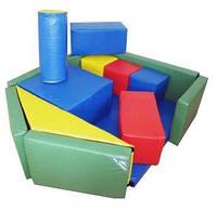 Мягкий игровой Модульный Конструктор Грузовой корабль для детей из 14 геометрических элементов 145х120х40 см