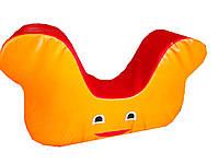 Мягкая игровая фигура-качеля для детей от 1 года для квартиры, детского сада или школы Клякса 58х22х22 см