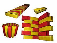 Мягкий игровой Модульный Конструктор Кирпичик для детей с 30 элементами для квартиры разборный 60х15х15 см