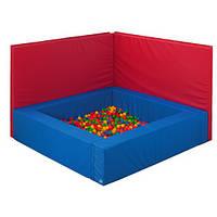 Мягкий модульный стеновой протектор к сухому бассейну из матов для предотвращения травм от 1 кв.м. для дома