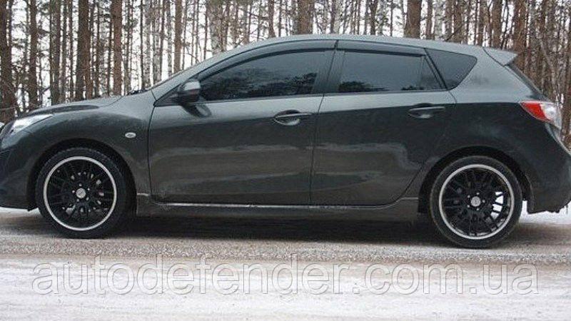 Дефлекторы окон (ветровики) Mazda 3 II hatchback 2009-2013, ANV - Cobra Tuning, M21409