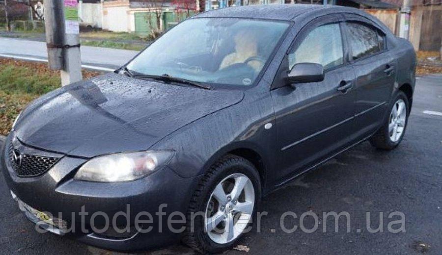 Дефлекторы окон (ветровики) Mazda 3 I sedan 2003-2008, ANV - Cobra Tuning, M20303