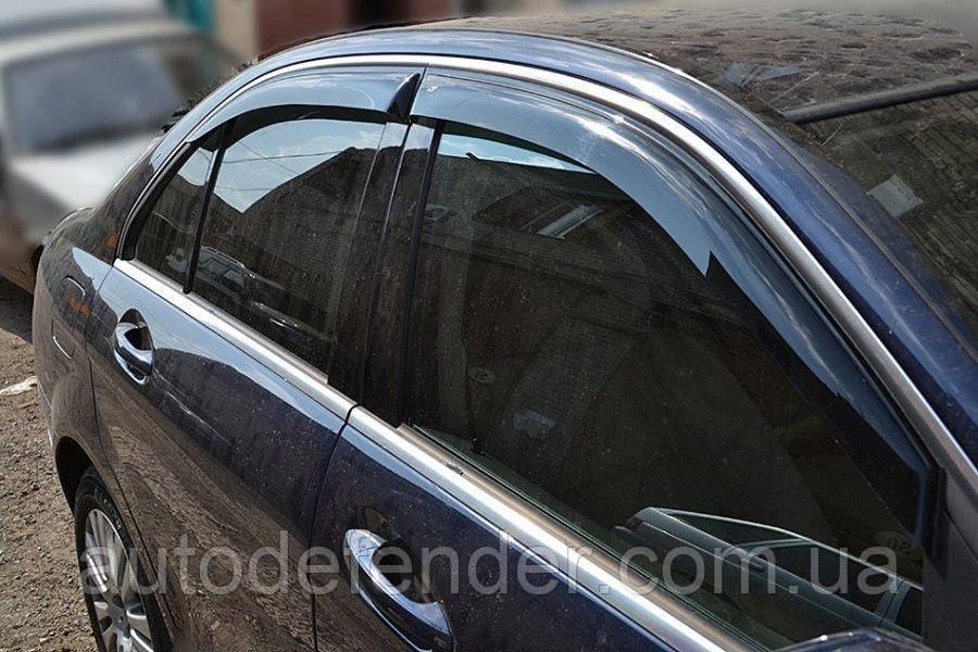 Дефлекторы окон (ветровики) Mercedes-Benz C-Class W204 sedan 2007-2014, Cobra Tuning - VL, M31106
