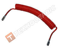 Шланг прицепа спиральный красный 4527130010(М22х1.5) 7м Турция NAYA (PU) полиуритан MAN,DAF,VOLVO,MERCEDES