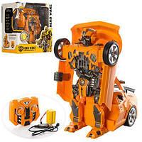 Детская Машинка для мальчиков Трансформер Бамблби на радиоуправлении, встроенный аккумулятор, 27 см арт. 28168