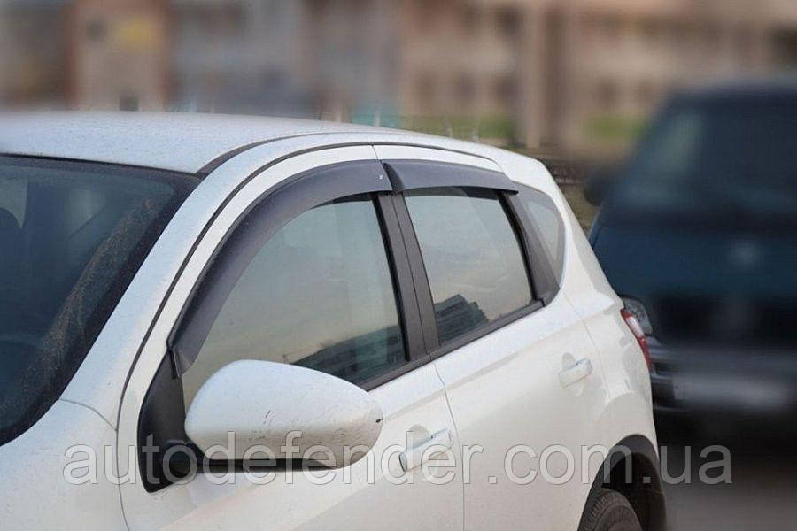 Дефлекторы окон (ветровики) Nissan Qashqai I 2006-2014, ANV - Cobra Tuning, N11206