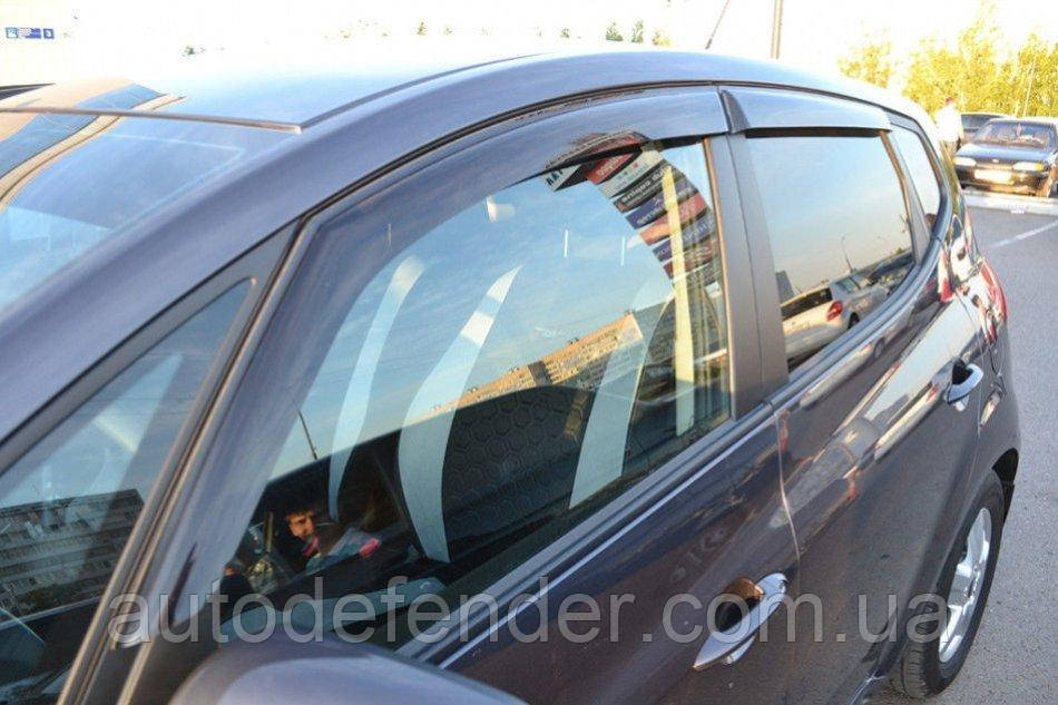 Дефлекторы окон (ветровики) Opel Astra F hatchback 5d 1991-1998, Cobra Tuning - VL, O14091