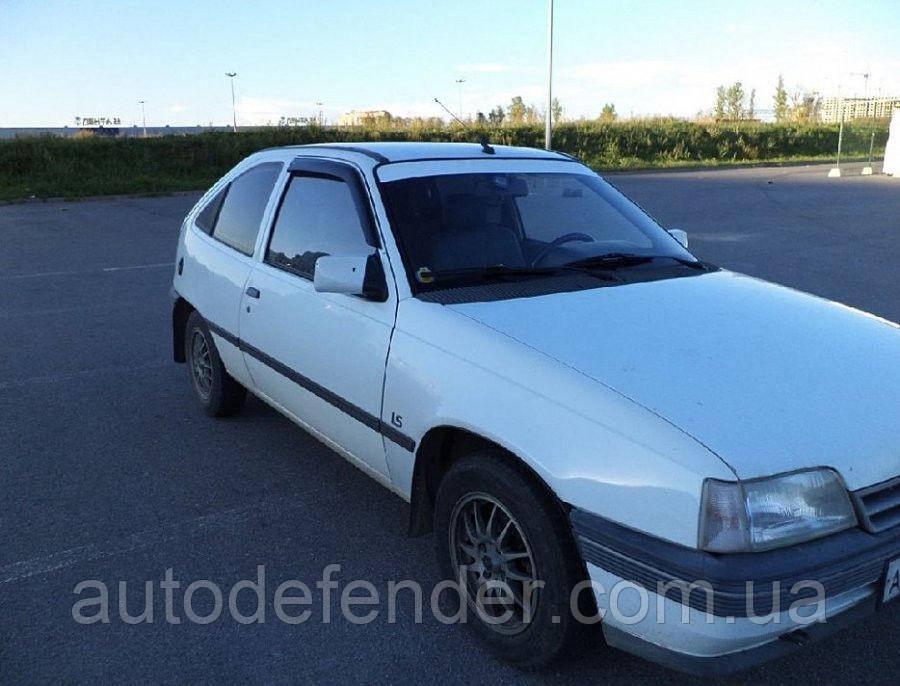 Дефлекторы окон (ветровики) Opel Kadett E 3d hatchback 1984-1991, Cobra Tuning - VL, O12684