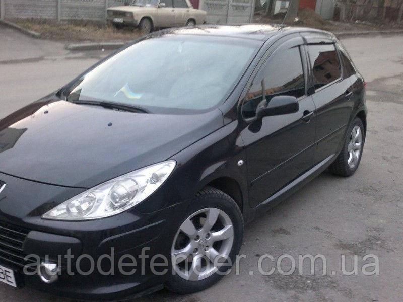 Дефлекторы окон (ветровики) Peugeot 307 sedan/hatchback 5d 2002-2008, Cobra Tuning - VL, P10402