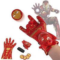 Перчатка - оружие Железного-Человека с вылетающими дисками - Iron-Man glove