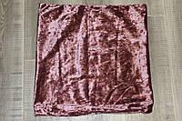 Декоративная наволочка велюр розовый