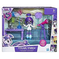 Детский Игровой Набор для Девочек с Подвижной Куклой My Little Pony Equestria Girls Twilight Sparkle от Hasbro