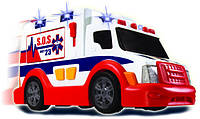 Игрушка Детская Для Мальчиков Машинка Скорая Помощь Функциональная белая со звуковыми эффектами Dickie Toys
