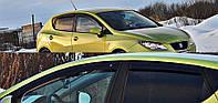 Дефлекторы окон (ветровики) Seat Ibiza 5d hatchback 2008-2017, Cobra Tuning - VL, S10209