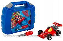 Детский Игровой Набор Чемодан на защелках с авто и отверткой Горячие колеса темно-синий Klein 31х27х8,5 см