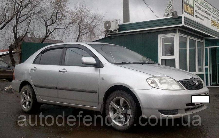 Дефлекторы окон (ветровики) Toyota Corolla sedan 2001-2007, Cobra Tuning - VL, T21001