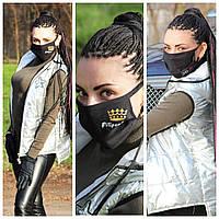 Защитная маска на лицо с принтом. Многоразовая двухслойная маска. Самая низкая цена., фото 1