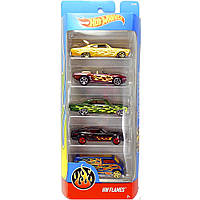 Игрушка Детская Для Мальчиков Подарочный Набор Машинок гоночные 5 штук Хот Вилс HW Flames Hot Wheels Mattel