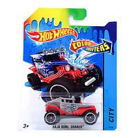 Игрушка Детская Для Мальчиков Машинка термочувствительная Измени Цвет красный-синий Хот Вилс Hot Wheels Mattel
