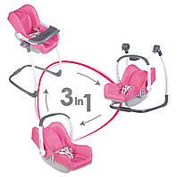 Детская Игровая Многофункциональная Переноска-сидение для кукол до 42 см розовая Maxi-Cosi 3 в 1 Smoby Смоби