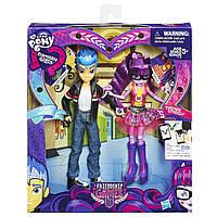 Набор Детских Игровых Кукол шарнирные из серии Девушки Эквестрии Flash Sentry и Twilight Sparkle от Hasbro