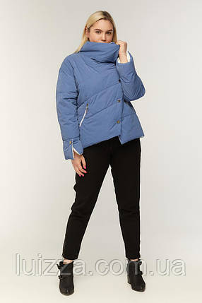 Куртка ассиметричная деми 42-54рр, фото 2