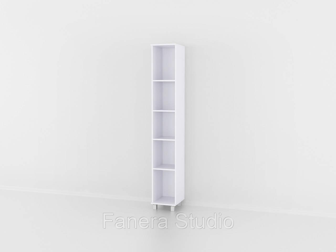 Полиця для книг, стелаж для дому з задньою стінкою на п'ять полиць