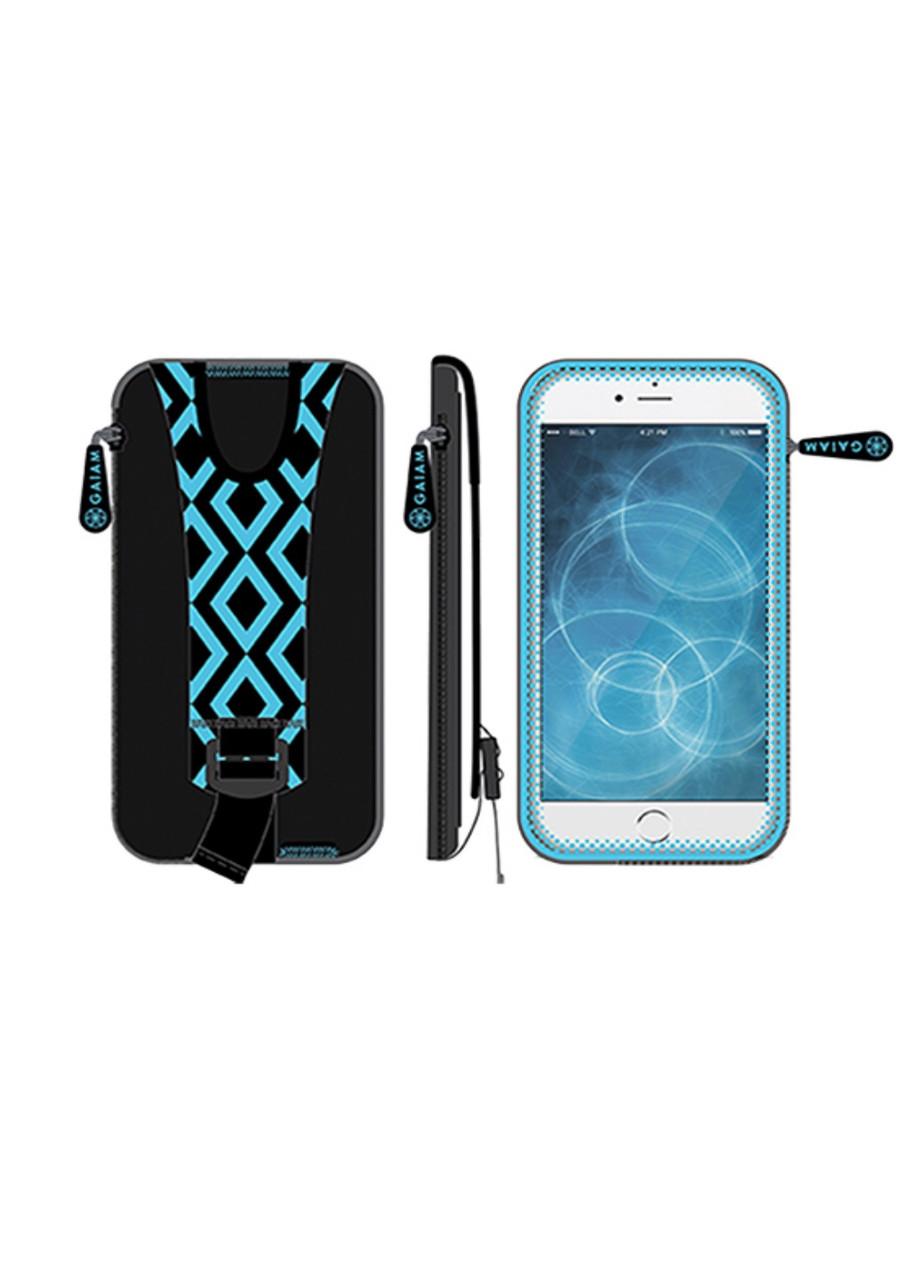 """Спортивный чехол на руку 5,7"""" для IPhone 6, Galaxy S5/S6 Gaiam 15х8см Голубой, Черный"""