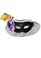 Карнавальная маска Penny 19х9см Черный