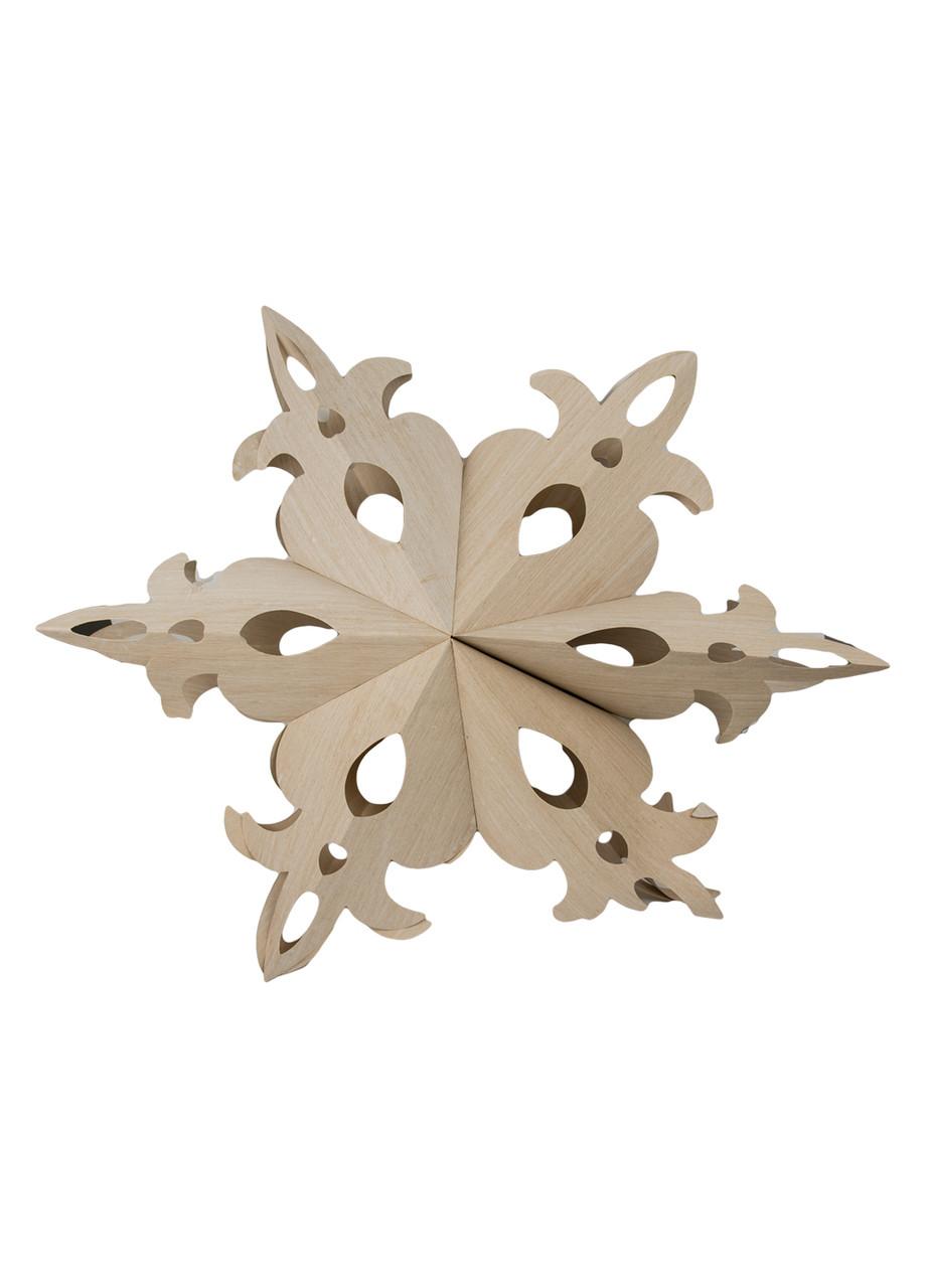 Новогодняя 3D снежинка Coincasa 60х65см Бежевый