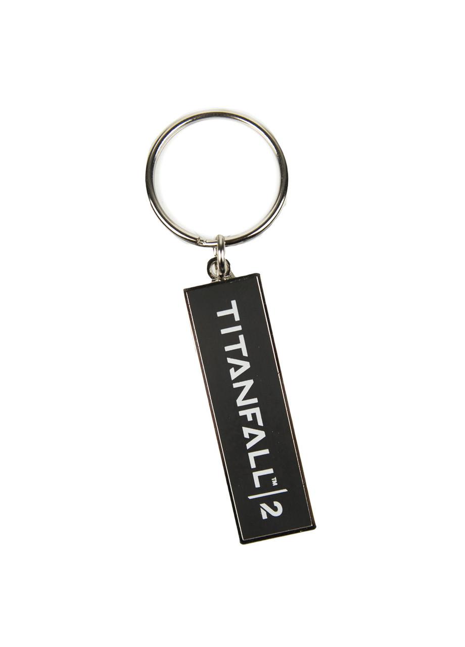 """Брелок """"Titanfall"""" Numskull 5,5х1,8см Чорно-білий"""