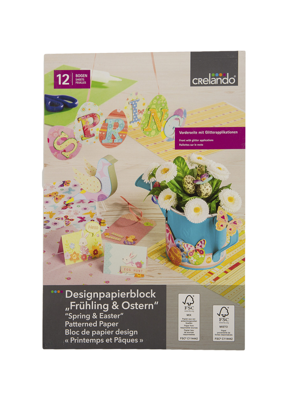 Набір паперу для дизайну (12шт) Crelando 21х30,5см Різнобарвний