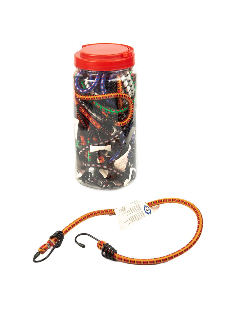 Набір резинок з гачками (18 шт) Powerfix 30-120см Різнобарвний