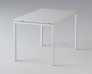 Стол офисный на металлических опорах Enrandnepr 1380х680 мм белый