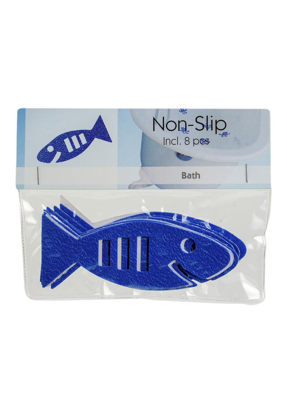 """Протиковзкі наклейки """"Рибка"""" (8шт) Bosign 10х4см Синій"""
