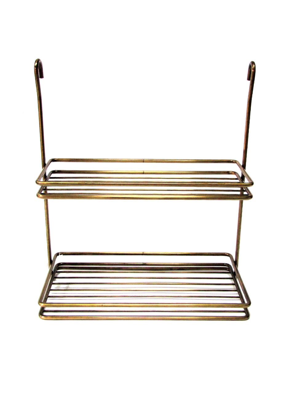 Підвісна полиця до ванної Penny 35х31х17см Золотий