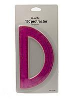 Транспортир Penny 15,5см Розовый, Черный