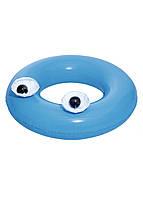 """Надувний круг """"Великі очі"""" Bestway D=91см Блакитний, Чорний, Білий"""