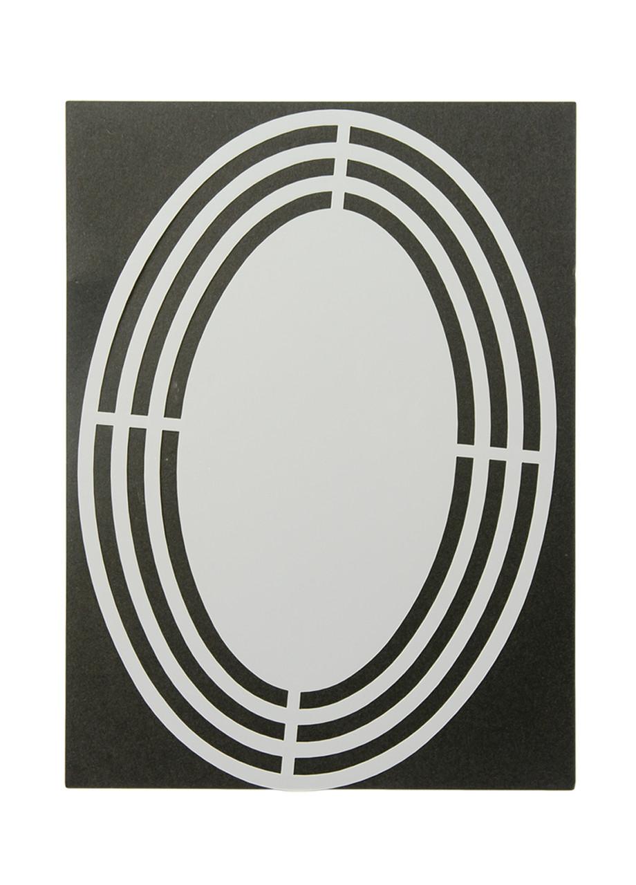 """Трафарет для творчості """"Овал"""" Dutch Doobadoo 21х14,5 см Сірий"""