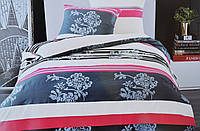 Комплект постельного белья Elway EW-5036 полуторный Бело-сине-красный