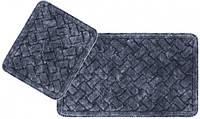 Набор ковриков для ванной Arya Hasir 50*60 см + 60*100 см серый арт.TR1006872