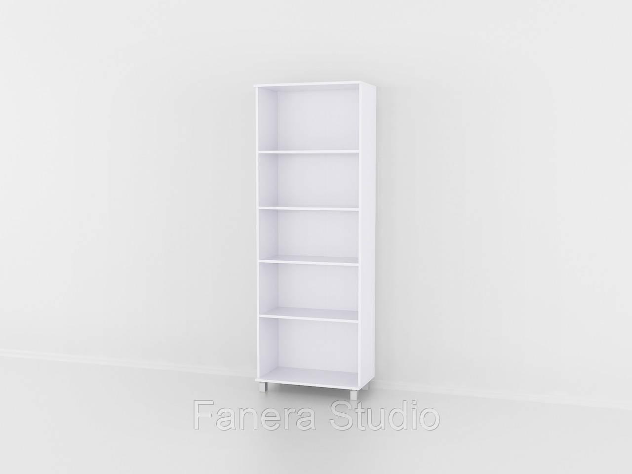 Полиця для книг, стелаж для дому з задньою стінкою на п'ять полиць, що регулюються по висоті