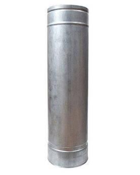 Труба дымоходная 1 м нерж/оцинк ø100/160 мм (толщина 1 мм)